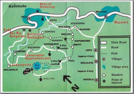 Peta sekitar kelimutu