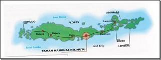 Taman NAsional Kelimutu MAp